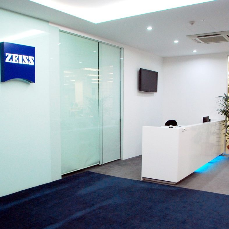 Reception area at the ZEISS Singapore office.